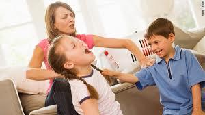 mom child fight