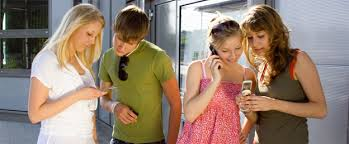 teenagers iphone