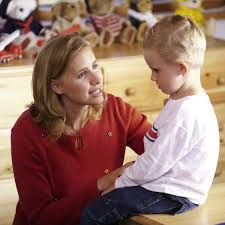 mother talk to child