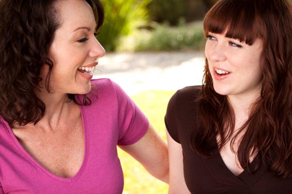 mom teen girl talking