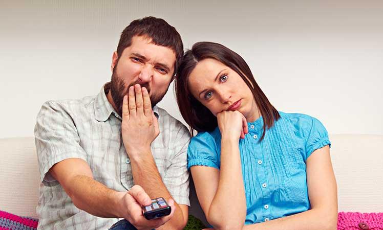 bored couple